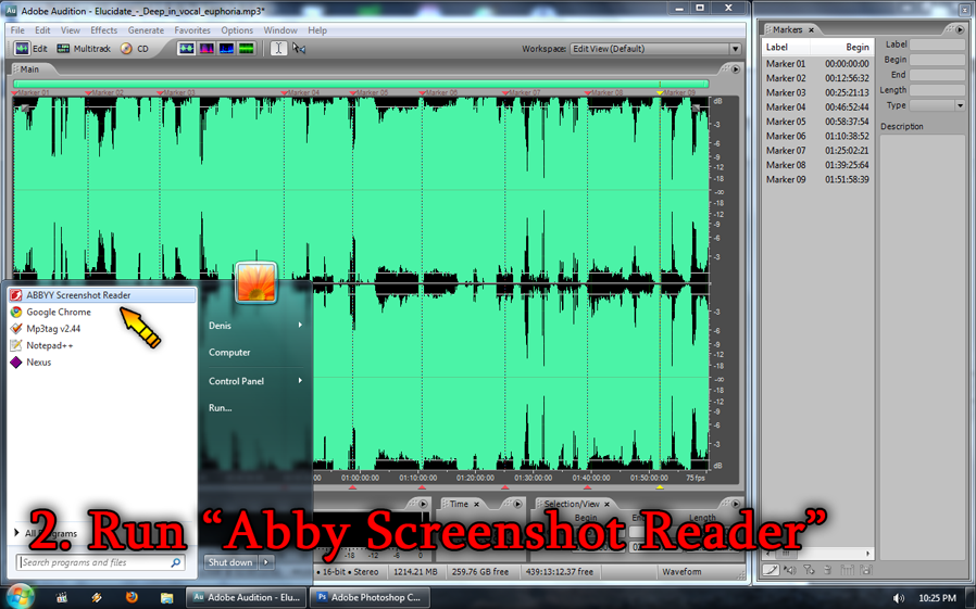 "Run ""Abby Screenshot Reader"""